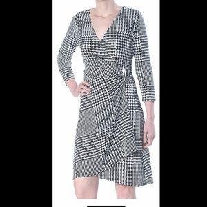 Calvin Klein Printed Plaid Dress XS